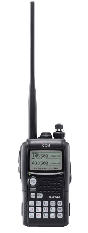To explore D-Star, I've bought a portable dual-band radio: Icom IC-E92D.